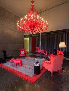 Yoo Panama by Philippe Starck. Industrial designer Philippe Starck has recently completed the interiors of a 56 storey building designed by Bettis-Tarazi Arquitectos located in Panama. Philippe Starck, Decoration Chic, Decoration Design, Estilo Kitsch, George Nelson, Beautiful Living Rooms, Red Accents, Plywood Furniture, Interior Lighting
