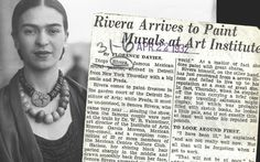 """Frida Kahlo at Michigan Central Station, April 21, 1932, her first day in Detroit. She's an unknown 25-year-old. But the press mob at the scene notices her style and they swarm her. She runs to a waiting car to escape. Detroit News reporter Florence Davies shouts one last question: """"Are you a painter, too?"""" Kahlo's reply: """"Yes, the greatest in the world."""" (The Detroit News archives)"""