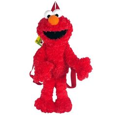 Your child can carry school supplies and other items in this furry Sesame Street Elmo Plush Backpack. Plush Dolls, Doll Toys, Monster Jam Toys, Sesame Street Toys, Monkey Birthday, 2nd Birthday, Elmo Party, Boys Backpacks, Pbs Kids
