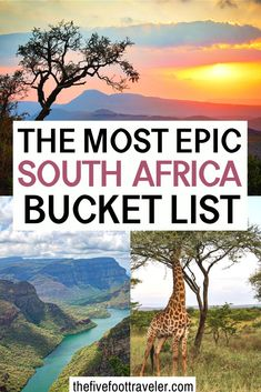 31 Places To Visit On Your South Africa Vacation - The Five Foot Traveler : The Most Epic South Africa Bucket List. The 31 most amazing places you need to see in South Africa. Arguably the easiest country on the continent to navigate. Cool Places To Visit, Places To Travel, Travel Photographie, Africa Destinations, Antarctica Destinations, Travel Destinations, Les Continents, Africa Travel, Travel Europe