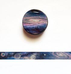Galaxy Washi Tape Nebula Washi Roll Planets by StickerdoodleShop