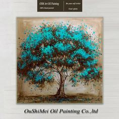 I love tree art and this one has depth, passion and substance. Hand Painted Modern Tree Art Decoration Oil Painting On Canvas Landsacpe Wall Pictures For Living Room Decor Oil Painting Abstract, Painting & Drawing, Diy Painting, Painting On Wall, Tree Painting Easy, Tree Of Life Painting, Painting Portraits, Painting Videos, Creative Painting Ideas
