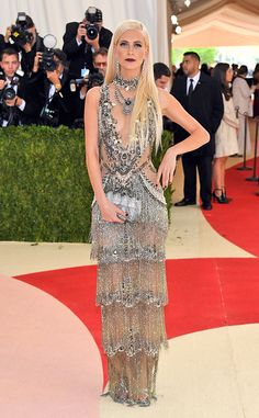 Poppy Delevinge from Met Gala 2016: Best Dressed Stars  The beauty was the edgiest flapper-in-fringe we ever did see. Given the mechanical nature of the tech theme, this Marchesa dress stayed true to its romantic roots.