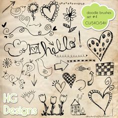 freebie: CU hand drawn doodle brushes - set 4