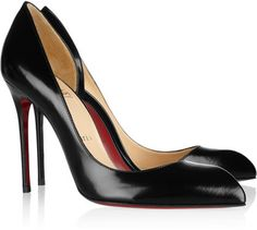 Christian Louboutin Chiarana 100 Cutout Leather Pumps