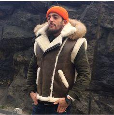 Yes, men look good in fur | Flight Jackets, Sheepskin Jackets, etc ...