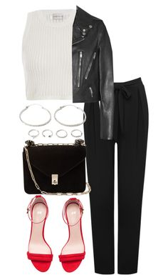 Untitled #3998 by theeuropeancloset on Polyvore featuring polyvore, fashion, style, Yves Saint Laurent, M&Co, Zimmermann, H&M, Valentino, Forever 21 and clothing