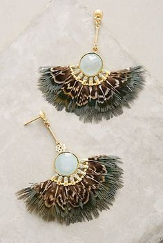 Izel Fan Drop Earrings