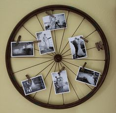 Bike wheel- you could use this for pics to display at the wedding