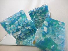 Sea Glass Soap-Sea Glass-Blue-Teal-Beach Gem Soap-Beach Glass-Decorative Ocean Soap-Clean Scent-Unique Glycerin Gift Soap-Beach-Ocean Water