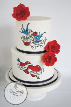 Rockabilly Wedding by Marianne: Tastefully Yours Cake Art  - http://cakesdecor.com/cakes/266779-rockabilly-wedding