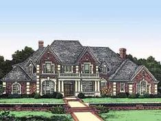 European Style House Plans - 7845 Square Foot Home , 2 Story, 5 Bedroom and 5 Bath, 4 Garage Stalls by Monster House Plans - Plan 19-281