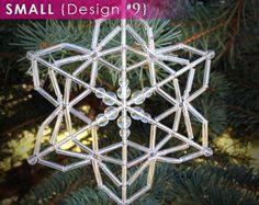 LARGE Design 5 Beaded Snowflake Ornament от LaneigeDesign на Etsy