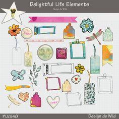 Delightful Life elements :: Elements :: Memory Scraps