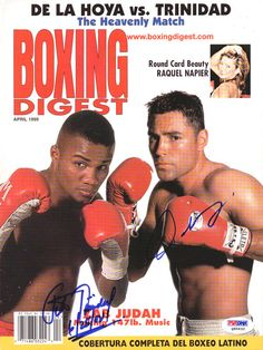 Oscar de La Hoya Trinidad Autographed Signed Magazine Cover PSA DNA Q95632 | eBay Trinidad, Boxing Rounds, Race Walking, Boxing Posters, Relay Races, Cross Country Running, World Of Sports, Track And Field, Athletes