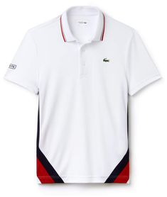 Players will thrill to this Lacoste Sport Tennis polo in run-resistant technical piqué with piping and colorblock bands. Polo Shirt Design, Polo Design, Polo Rugby Shirt, Polo T Shirts, Lacoste Sport, Lacoste Men, Camisa Polo, Corporate Uniforms, Kites