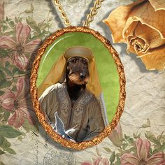Dachshund Jewelry Pendant Necklace Handcrafted Ceramic by Nobility Dogs  #DogPendant #DogLover #CustomDogArt #DogBreedsJewelry #NobilityDogs #CustomDogPortrait #DogJewelry #canine #WireDachshund #DogBrooch