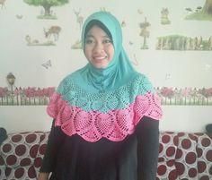 Crochet.. hijab crochet.. handmade.. moslem hijab crochet Hijabs, Crocheting, Scarves, Sewing, Handmade, Fashion, Crochet, Scarfs, Moda