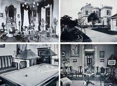Ambientes externos e internos do palacete de A