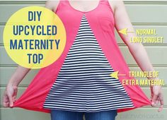 DIY maternity top. For the crafty mom's out there!