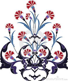 Traditional ottoman turkey turkish tulip design by Murat Cokeker, via Dreamstime