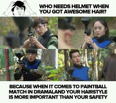 Yes, that is Heirs for you. And then the scene after... gosh. In korean dramas EVERYONE has awesome hair. Everywhere and every time.