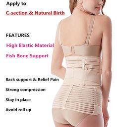 11e039f030 Bestnewborn 3 in 1 Postpartum Support Girdle C-section Recovery Belly Wrap  Waist Pelvis Postnatal Belt Body Shaper at Amazon Women s Clothing store