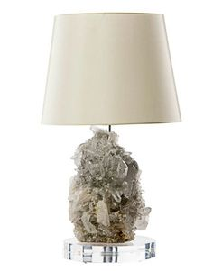 Insane. lamp with craggy crystal base