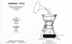 Chemex is possibly the most elegant looking of all brewing devices and one of my favorite ways to make coffee. Designed in 1941 by a German chemist. Coffee Is Life, Coffee Love, Best Coffee, Coffee Shop, Pour Over Coffee, Drip Coffee, Iced Coffee, Coffee Brewers, Chemex Coffee Maker