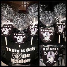 oakland raiders cake pops Raiders Cake, Raiders Shirt, Nfl Raiders, Oakland Raiders Football, 60th Birthday Party, Happy Birthday, Birthday Ideas, Raiders Wedding, Football Baby Shower