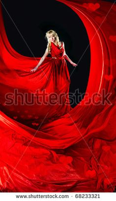red gowns with black back ground - Google Search