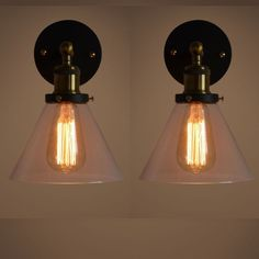 Pair of Modern Vintage Industrial Wall Lamp Ceiling Sconce Decor Light Black New