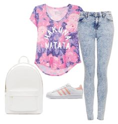 """""""Outfit #463"""" by naleland on Polyvore featuring moda, Topshop, adidas Originals, PB 0110, ootd, summeroutfit i polyvoreOOTD"""