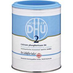 BIOCHEMIE DHU Schüssler Salz 2 Calcium phosphoricum D6 Tabletten:   Packungsinhalt: 1000 St Tabletten PZN: 00273873 Hersteller:…