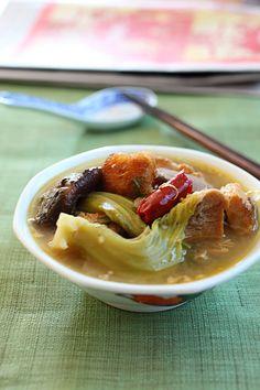 Chai Buey Recipe Ingredients: Leftover meat (roast pig, barbeque pork, duck, chicken, or turkey) 6