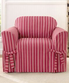 Sure Fit Grainsack Stripe Chair Slipcover