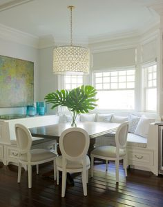 Nightingale Design | Love how the banquette makes such great use of the space