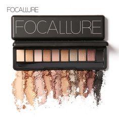 Focallure макияж палитра природные макияж глаз 10 цветов макияж мерцание матовый палитра теней комплект купить на AliExpress