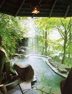 backyard hot spa