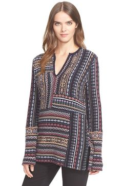 Tory Burch Wool Jacquard Tunic available at #Nordstrom