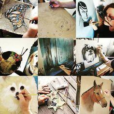 A lot of hands. Lol  #2016bestnine #houseofdahlstrom #beingkarin #petportraits #portraits #customart #happynewyear