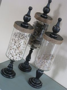 """It would be fun to fill these with dice and other game playing pieces for the basement """"game room"""""""