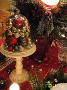 Ornament Filled Cloche Jar