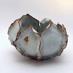 Ceramic Bowl Medium White Leaves Bowl Organic Design Handmade Ceramic Art for food or decoration Ceramic Decor Beach House Decor Ceramic Decor, Ceramic Clay, Ceramic Planters, Ceramic Bowls, Hand Built Pottery, Slab Pottery, Ceramic Pottery, Succulent Bowls, Succulents