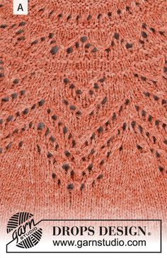 Ravelry: Agnes Sweater pattern by DROPS design Drops Design, Drops Patterns, Lace Patterns, Lace Knitting, Knitting Patterns Free, Magazine Drops, Free Pattern Download, Pulls, Crochet