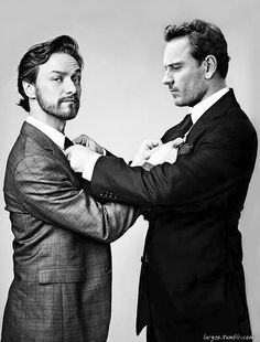 McBender. James McAvoy and Michael Fassbender  (the young X-Men versions of Professor X and Magneto