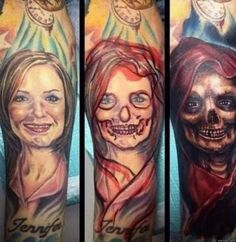 The Not-So-Subtle Way to Tell Your Ex She's Dead to You #she is dead for me #ex #ex girl removed #ex gf tattoo #tattoo remove