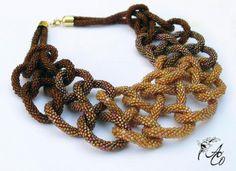 Простые связанные крючком жгуты из бисера Дизайн украшений из бисера