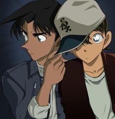 Heiji and Shinichi Conan Movie, Detektif Conan, Ghibli, Heiji Hattori, Gosho Aoyama, Detective Conan Wallpapers, Funny Phone Wallpaper, Kudo Shinichi, Magic Kaito