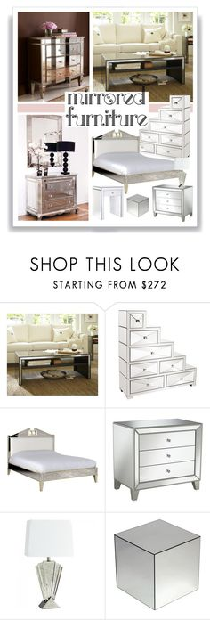 """""""Mirrored Furniture"""" by onemonday ❤ liked on Polyvore featuring interior, interiors, interior design, home, home decor, interior decorating, Pottery Barn, Howard Elliott, Universal Lighting and Decor and Cyan Design"""
